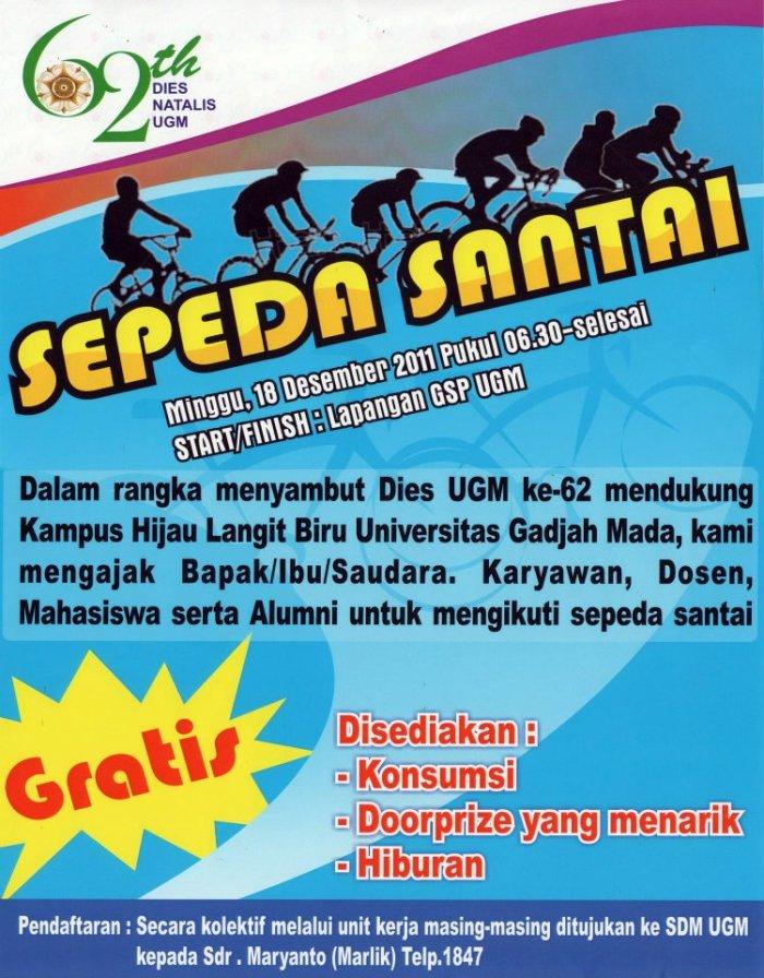 Sepedaan Dies UGM 18 Desember 2011
